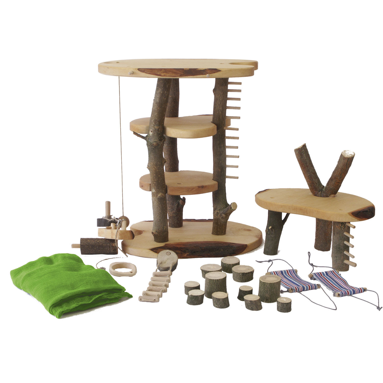 baumhaus spielhaus aus holz. Black Bedroom Furniture Sets. Home Design Ideas