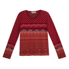 Jacquard-Pullover 1/1A,rot-gem