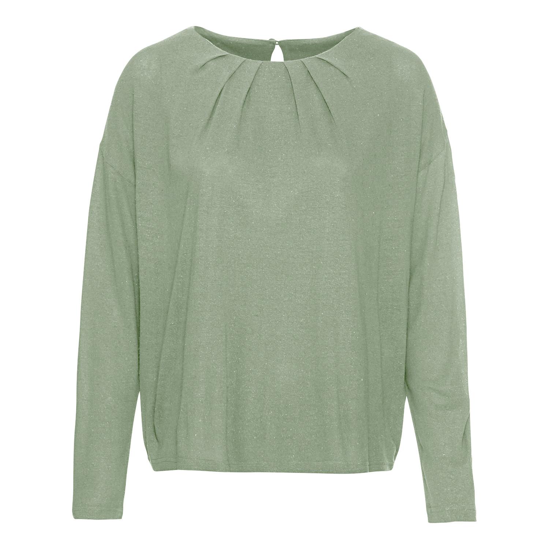 Fledermaus-Shirt aus Bourrette-Seidenjersey, steingrün from Waschbär