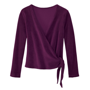 Nicki-Wickeljacke aus Bio-Baumwolle, purple