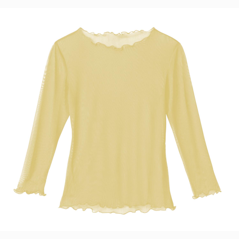 Langarm-Shirt aus Bio Seide, Zitrone from Waschbär