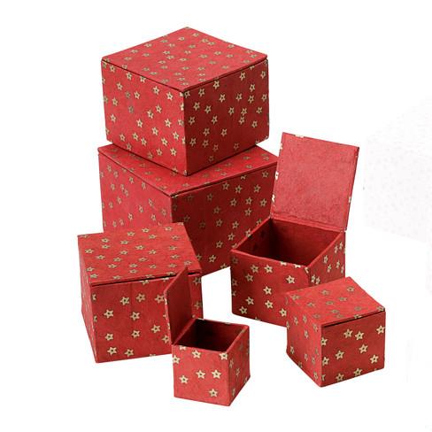Werben Angebote Geschenkeboxen 6tlg, rot