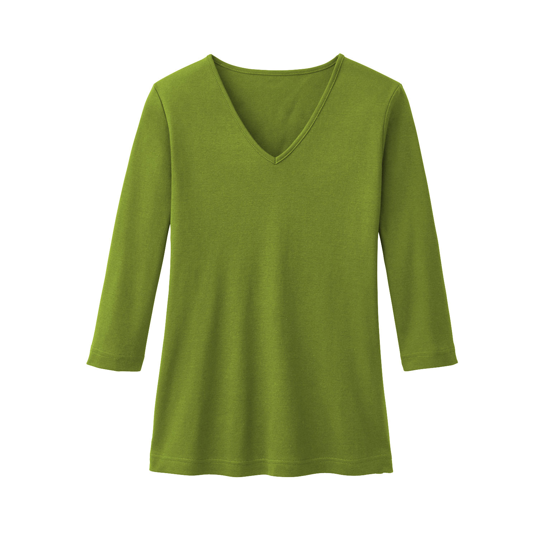V-Shirt aus Bio Baumwolle, farngrün from Waschbär