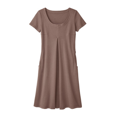 Jerseykleid, taupe
