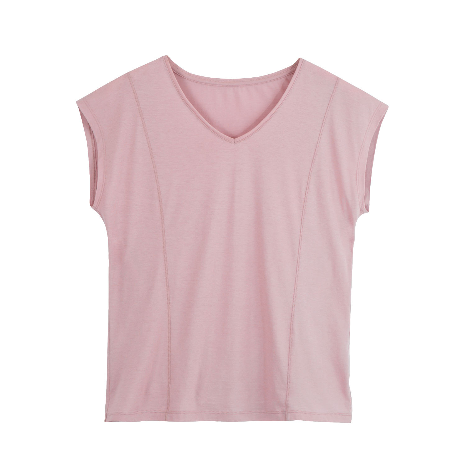 V-neck-Shirt, spring rose