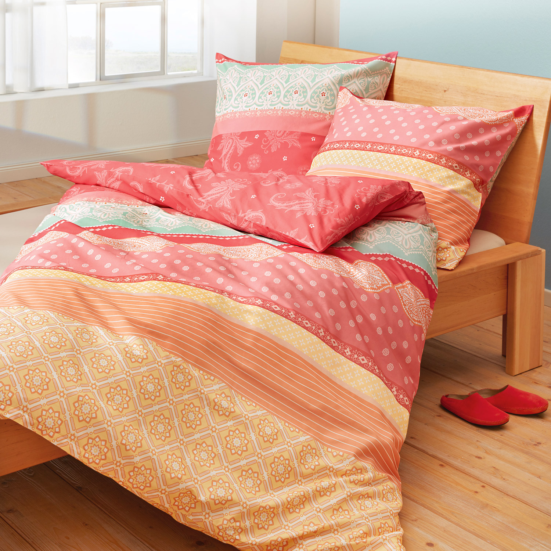 bio feinbiber bettw sche garnitur 2 tlg multicolor. Black Bedroom Furniture Sets. Home Design Ideas