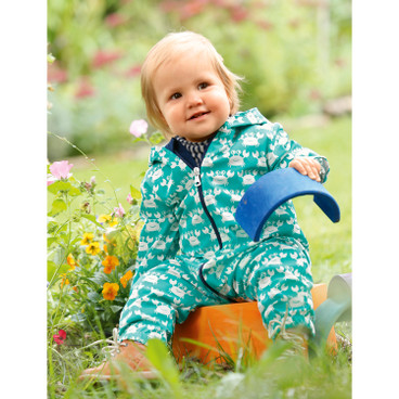 Baby-Outdooroverall Bionic-Finish Eco, smaragd