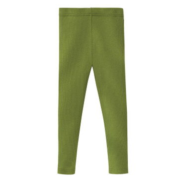Ripp-Leggings stretchbequem, kiwigrün