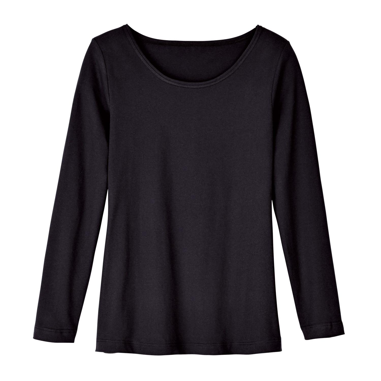 Rundhals-Shirt aus Bio-Baumwolle, schwarz from Waschbär