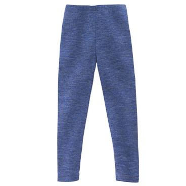 Kinder-Leggings aus Bio-Wolle, blau