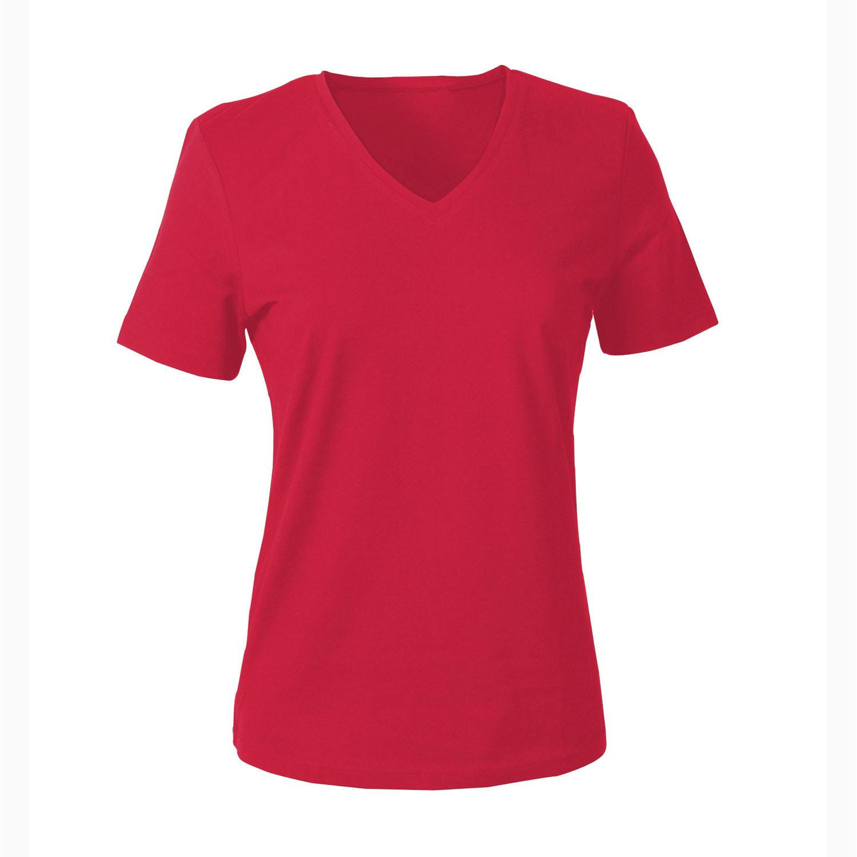 V-Shirt für SIE, rot from Waschbär