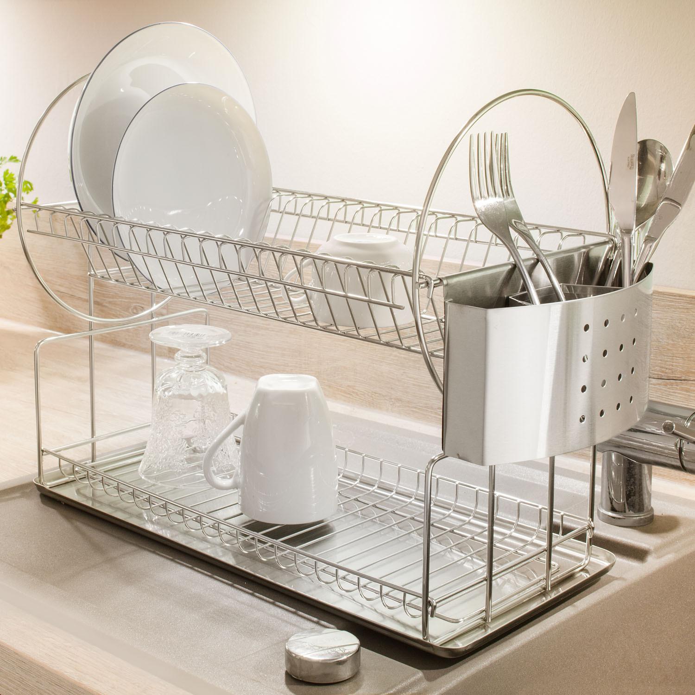 doppel abtropfkorb edelstahl. Black Bedroom Furniture Sets. Home Design Ideas