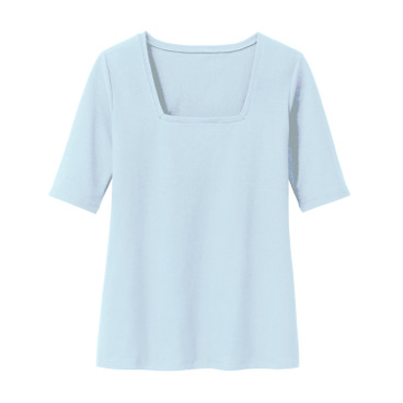 Carrée-Shirt 3/4 Arm, eisblau