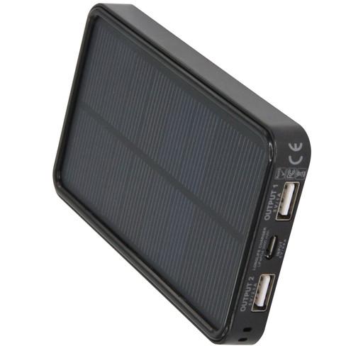 Solar Powerbank, schwarz