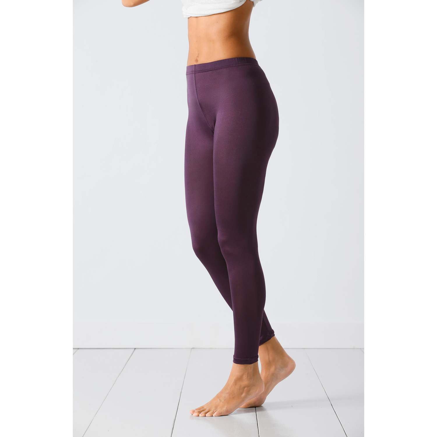Seiden-Leggings, plum