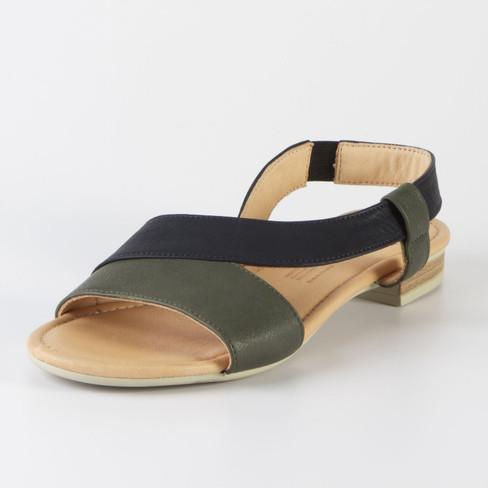 Sandale, oliv-marine 38