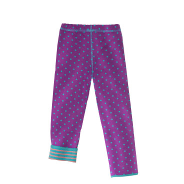 "Wende-Leggings ""Tupfen"", lila/rose"