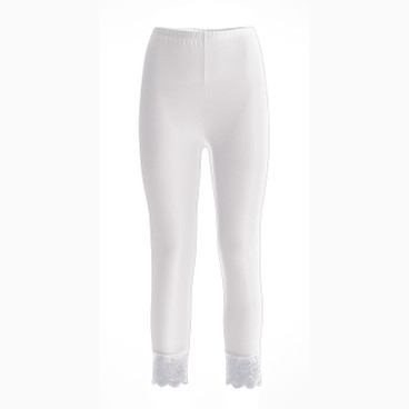 3/4 Leggings, weiß