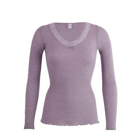 Langarm-Shirt, malve 40