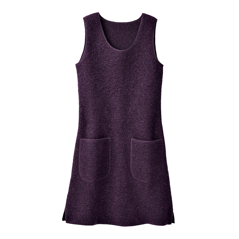 Kleid oder Tunika aus Wollwalk, plum from Waschbär