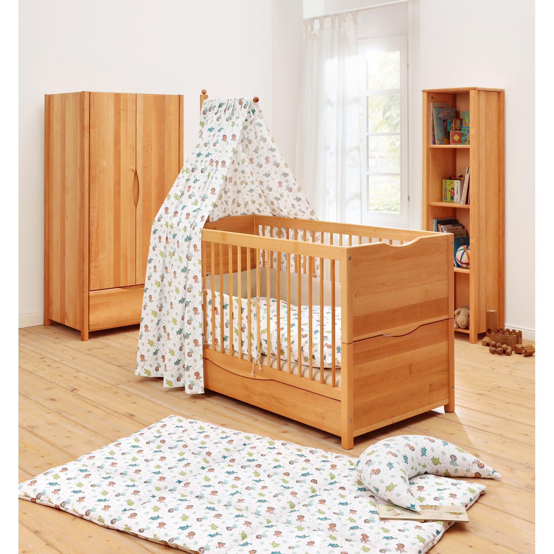 Minib r kinderbett leon aus massivem erlenholz natur for Babyzimmer mitwachsend