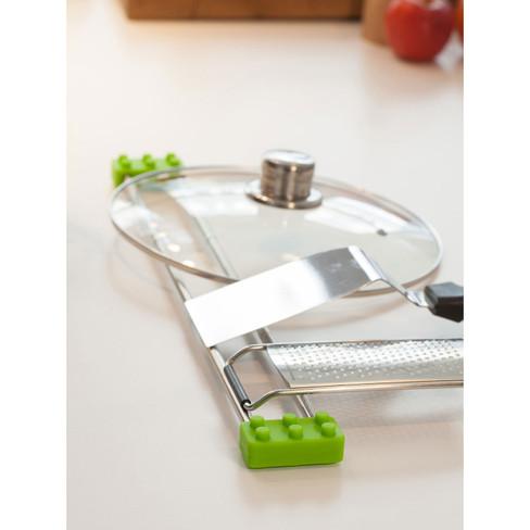 Abtropfhilfe drip.line für Küche & Bad, grün