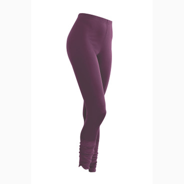 7/8 Leggings aus Bio Seide, plum