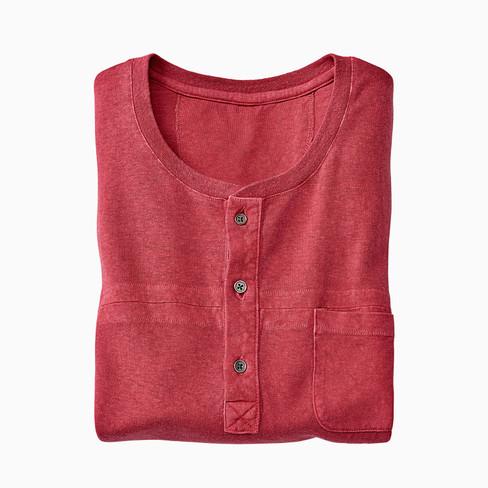 Kiekebusch Angebote Kurzarm-Knopfleisten-Shirt HOWARD, hagebutte XL
