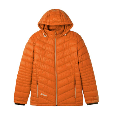Herren Steppjacke mit Kapuze, orange