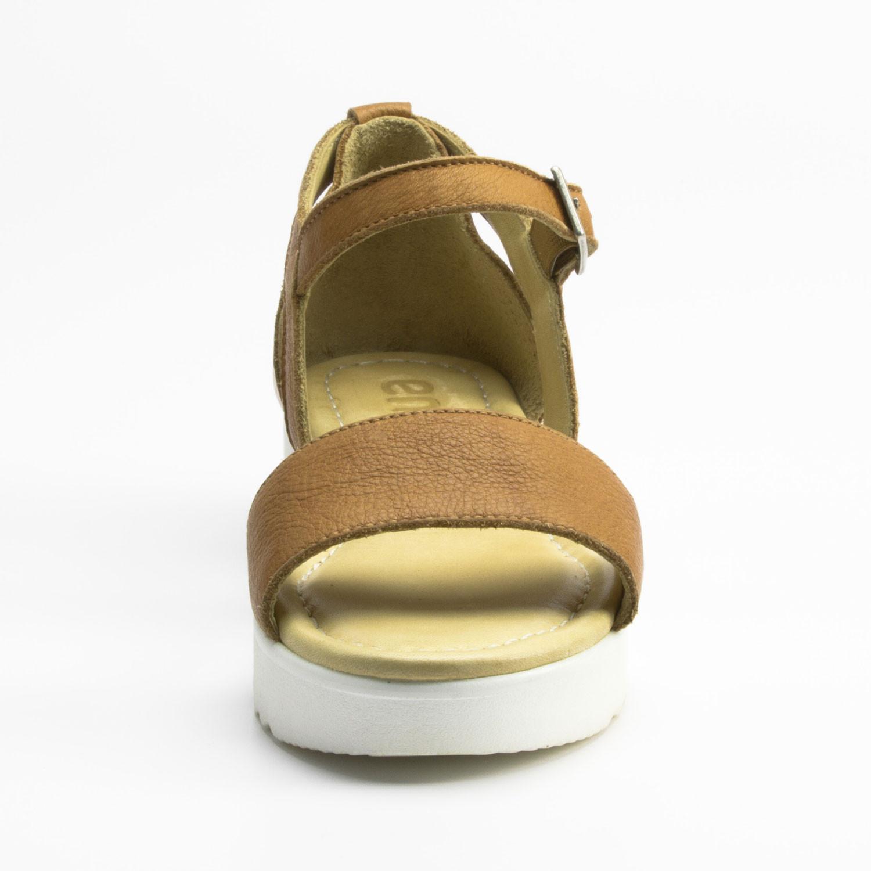 plateau sandale aus bio leder camel. Black Bedroom Furniture Sets. Home Design Ideas