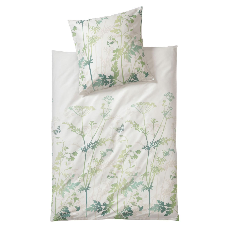 bio biber bettw sche garnitur 2 tlg natur gr n. Black Bedroom Furniture Sets. Home Design Ideas