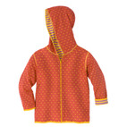 Kapuzenjacke, orange/lila