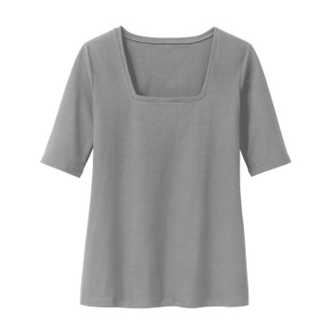 Carrée-Shirt 3/4 Arm, silbergrau