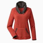 Fleece-Pulli,rostorange/anthrazit