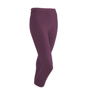 ¾-Seiden-Leggings aus Organic Silk, plum