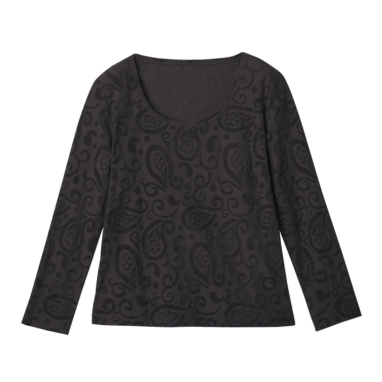Nicki-Shirt mit Intarsien aus Bio-Baumwolle, Schwarz from Waschbär