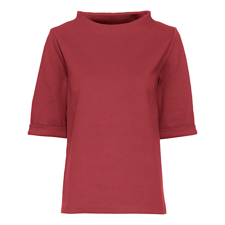 Jerseyshirt mit Vulkankragen aus Bio-Baumwolle, vino from Waschbär