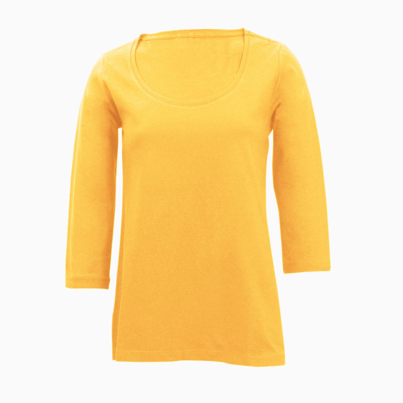 Rundhals-Shirt für SIE, gelb from Waschbär