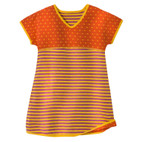 Kleid, orange/lila