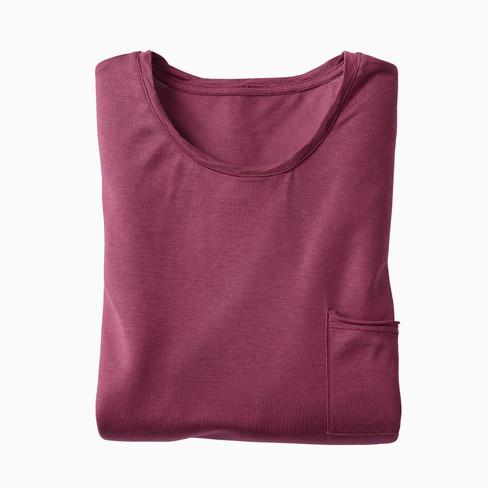 Langarm-Shirt, bordeaux XXL