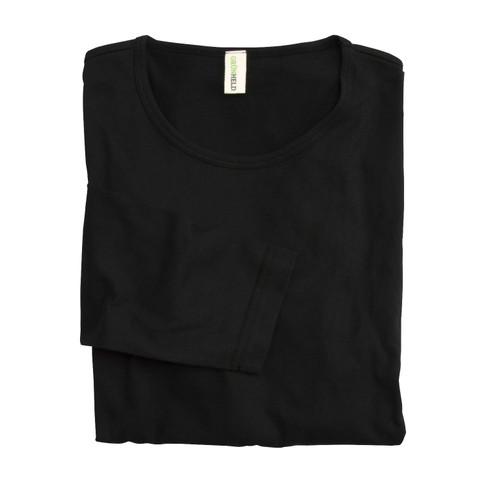 Langarm-Shirt, schwarz XXL