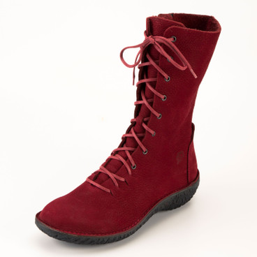 "Stiefelette ""Fusion"", rot"